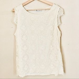 NWT 7th avenue New York and Company lace top